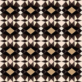 Abstract geometric ethnic background in black and white Stock Images