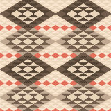 Abstract geometric ethnic rug pattern Royalty Free Stock Photos