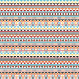 Abstract geometric ethnic seamless pattern Royalty Free Stock Images