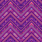 Abstract geometric ethnic striped seamless fabric pattern, vecto Royalty Free Stock Images