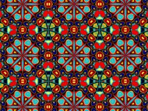 Pattern with abstract decorative mosaic ornament stock photo