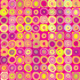 Abstract  geometric festive pop-art texture. Royalty Free Stock Images