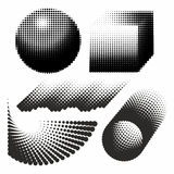 Abstract geometric figures black and white graphic design halfto Stock Image