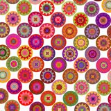 Abstract geometric floral rounds  background Stock Photo