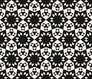 Abstract geometric floral seamless pattern. Ornamental floral pattern. Abstract geometric floral seamless pattern. Elegant black and white lace texture Royalty Free Stock Image
