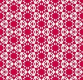 Abstract geometric floral seamless pattern. Traditional Asian motif. Abstract geometric floral seamless pattern. Elegant festive red and beige texture royalty free illustration