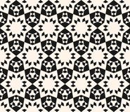 Abstract geometric floral seamless pattern. Lace texture. Abstract geometric floral seamless pattern. Elegant black and white lace texture. Monochrome royalty free illustration