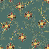 Abstract geometric flowers seamless pattern. Floral background. Stock Image