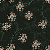 Abstract geometric flowers seamless pattern. Floral background. Easily editable vector image Royalty Free Stock Image