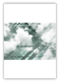 Abstract geometric flyer template layout with sky and clouds. Abstract geometric brochure template layout with sky and clouds. Vector background for print flyers Stock Photography