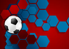 Abstract geometric football background Stock Photo