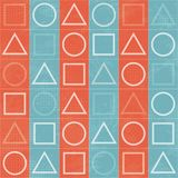 Abstract geometric game signs, seamless texture. (eps 10 stock illustration