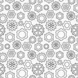 Abstract geometric gear black and white graphic cog wheel patter Royalty Free Stock Image