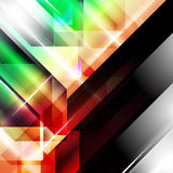 Abstract geometric gems and crystals glowing background with sparks and shining lines. Vector eps 10. Stock Image