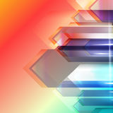 Abstract geometric gems and crystals glowing background with sparks and shining lines. Vector eps 10. Royalty Free Stock Images