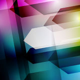 Abstract geometric gems and crystals glowing background with sparks and shining lines. Vector eps 10. Stock Images