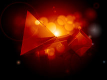 Abstract geometric glowing background Royalty Free Stock Image