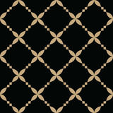 Abstract geometric gold and black hipster deco art pattern Royalty Free Stock Photo