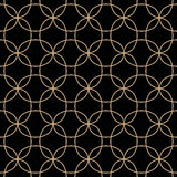 Abstract geometric gold and black hipster deco art pattern Royalty Free Stock Image