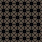 Abstract geometric gold deco art ornament pattern Stock Photo
