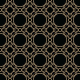 Abstract geometric gold deco art ornament pattern Stock Images