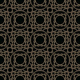 Abstract geometric gold deco art ornament pattern Stock Photos