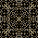 Abstract geometric golden deco art pillow mosaic pattern. Background Royalty Free Stock Photo