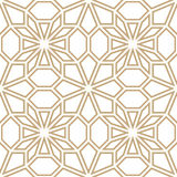 Abstract geometric golden deco art pillow mosaic pattern Stock Image