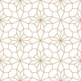 Abstract geometric golden deco art pillow mosaic pattern Stock Photography