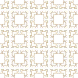 Abstract geometric golden deco art square pattern Stock Photography