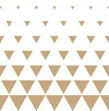Abstract geometric golden graphic design print triangle halftone pattern Stock Photos