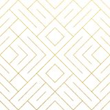 Abstract geometric golden seamless pattern background with gold glitter lines texture. Vector ornate geometry pattern of rhombus a. Nd metal golden lines for stock illustration