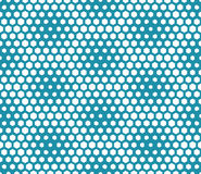Abstract geometric graphic seamless blue hexagon pattern Royalty Free Stock Image