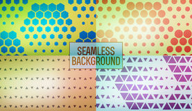 Abstract geometric graphic seamless hexagon pattern background vector illustration