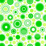 Abstract geometric green circles seamless pattern, vector royalty free illustration