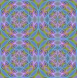 Seamless regular circle pattern blue purple green Royalty Free Stock Images