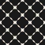 Abstract geometric grid pattern. Dark elegant design for decoration, fabric. Abstract geometric grid pattern. Vector monochrome seamless texture with diagonal Vector Illustration