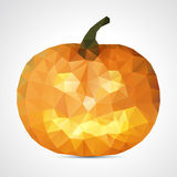 Abstract geometric halloween pumpkin - vector illustration Royalty Free Stock Photography