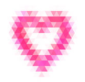 Abstract geometric heart Stock Photos