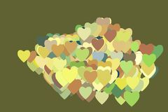 Abstract geometric heart or love pattern, colorful & artistic for graphic design. Like, repeat, concept & background. Abstract geometric heart or love pattern Royalty Free Stock Images