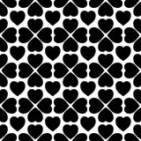Abstract geometric hearts seamless pattern. Abstract black and white geometric hearts seamless pattern. Vector format added royalty free illustration