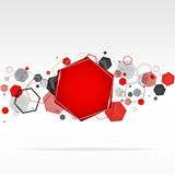 Abstract geometric hexagon background. Vector Royalty Free Stock Photo