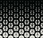 Abstract geometric hexagon halftone gradient pattern. Background Stock Image