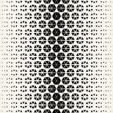 Abstract geometric hexagon halftone gradient pattern. Background Royalty Free Stock Images
