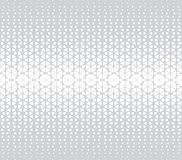 Abstract geometric hexagon halftone gradient pattern. Background vector illustration