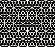 Abstract geometric hexagon minimal seamless pattern. Print Royalty Free Stock Photos