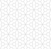 Abstract geometric hexagon minimal seamless pattern print. Background Royalty Free Stock Image