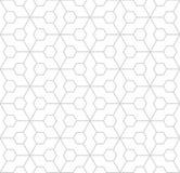 Abstract geometric hexagon minimal seamless pattern print. Background royalty free illustration