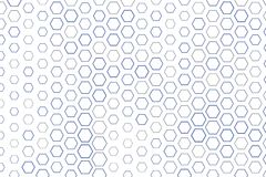 Abstract geometric hexagon pattern, colorful & artistic for graphic design, catalog, textile or texture printing & background. Style of mosaic or tile. Vector Stock Images