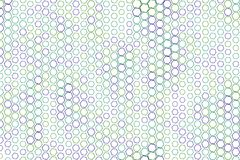 Abstract geometric hexagon pattern, colorful & artistic for graphic design, catalog, textile or texture printing & background. Style of mosaic or tile. Vector Royalty Free Stock Photo